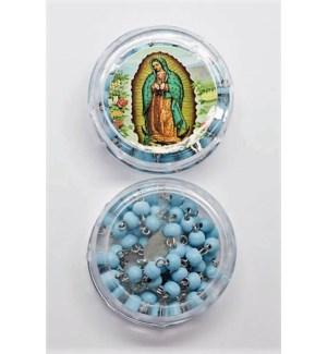 REL ROSARY #R2602BL GUADALUPE