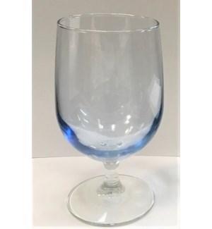 WINE GLASSES #34 BLUE SHORT STEM
