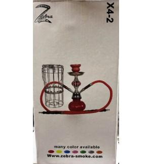 HOOKAH IN CAGE ZEBRA SMOKE