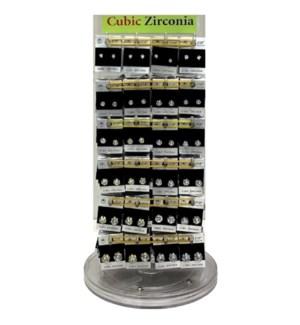 CUBIC ZIRCONIA EARRINGS DISPLAY