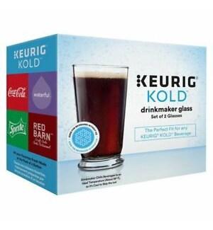 DRINKING GLASSES #35405 KEURIG (SET OF 2)