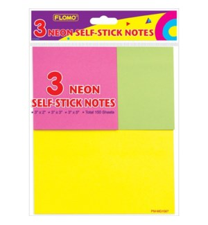 MG-1567 3 NEON SELF STICK NOTES