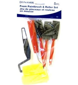 DYNAMIK #A10519 FOAM PAINTBRUSH/ROLLER SET