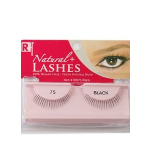 EYELASHES #0075 NATURAL PREMIUM VIRGIN H