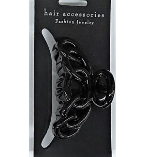 HAIR CLIP #HCL35-3BLA MED/BLACK
