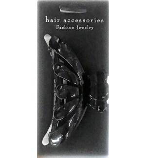 HAIR CLIP #HCL35-4BLA MED/BLACK