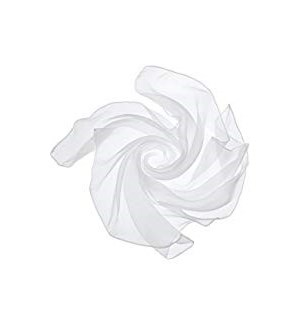 CHIFFON NECK SCARF #SCA4W WHITE