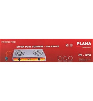 PLANA TWO BURNER #PLB-ST3 WITH REGULATOR HOSE