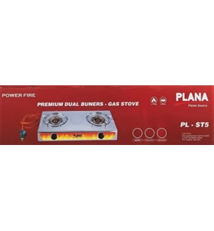 PLANA TWO BURNER #PLB-ST5 BRASS W/HOSE