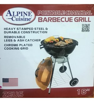 """BBQ GRILL 18"""" #BBQ-RS18CP ROUND COPPER"""