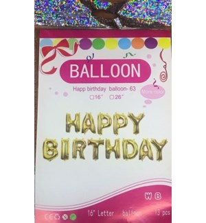 BALLOON #FHB16G HAPPY BIRTHDAY