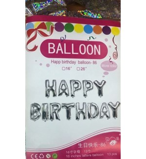 BALLOON #FHB16S HAPPY BIRTHDAY