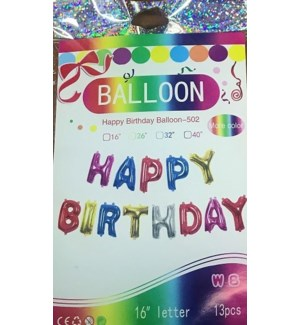 BALLOON #FHB16M HAPPY BIRTHDAY