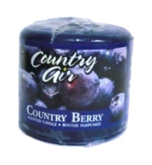 PILLAR CANDLE C.A.#34047 COUNTRY BERRY