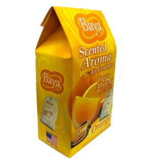 BAYA #85070 ORANGE SACHET AIR FRESHENER