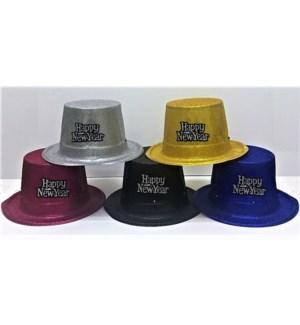 N.YR #75222 NEW YEAR HAT W/GLITTER & LIGHT