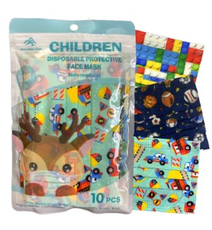 FACE MASK #79670 KIDS PRINTED BOYS STYLE