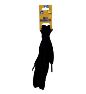 SHOE LACE #JNF27BL FLAT BLACK