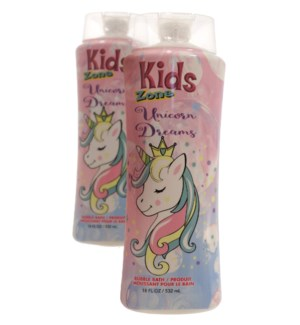 KIDS ZONE #05477 UNICORN DREAMS BUBBLE BATH
