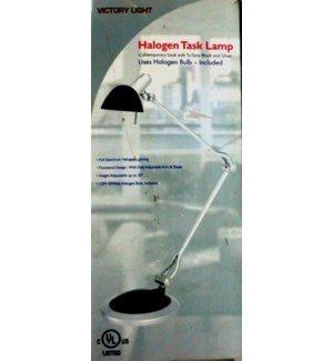 HALOGEN TASK LAMP #VL30101B ADJUSTABLE