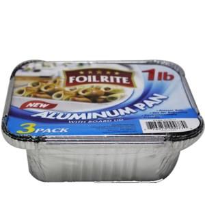 FOILRITE #RU0088 3PK FOIL PAN W/DOME LID
