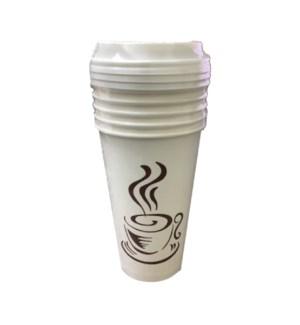 U #RU00104 16OZ PAPER HOT CUP W/LID