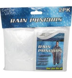 RAIN PONCHOS #CH11058 2PK/CLEAR