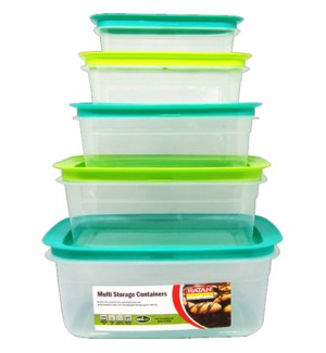 FOOD CONTAINER #IN14891 5PK PLATINUME