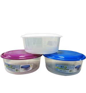 FOOD CONTAINER #IN24823 ROUND, ASST