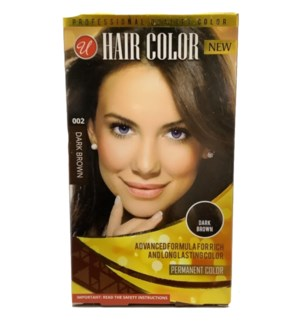 U #72001 D.BROWN HAIR COLOR
