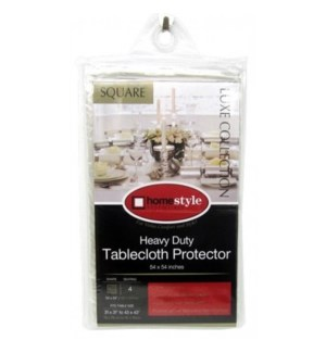TABLE CLOTH #CV76613 CLEAR, SQUARE