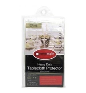 TABLE CLOTH #CV76615 CLEAR, OVAL