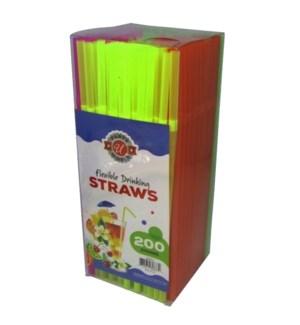 U #CN80873 NEON STRAWS IN PVC BOX