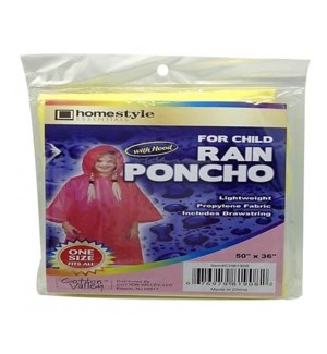 CH81908 CHILD RAIN PONCHO