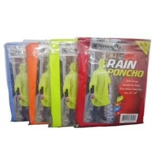 CH81950 ADULT PVC RAIN PONCHO