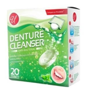 U #82001 DENTURE CLEANSER GREEN