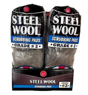 U #82047 STEEL WOOL GRADE-2 MEDIUM C