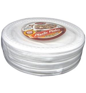 U #CN82613 PLASTIC PLATE, WHITE