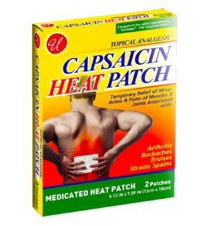 U #82632 CAPSAICIN HEAT PATCHES