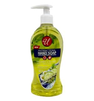 U #82715 HAND SOAP CUCUMBER & TEA ANTI BACTERIAL