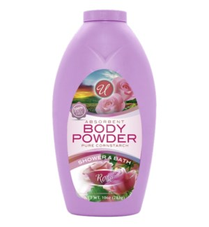 U #83001 ROSE W/CORN BODY POWDER