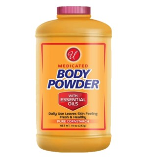 U #83002 BODY POWDER CORNSTARCH W/ESSENTIAL OIL