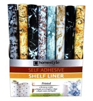 SHELF LINER #CH85515 MARBLE PRINT, SELF ADHES