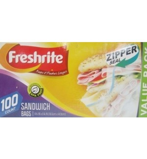 U #85609 SANDWICH ZIPPER BAGS