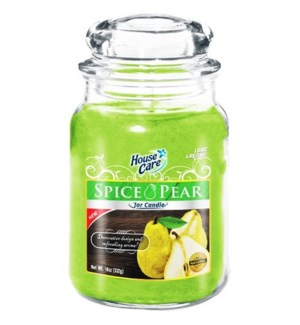 U #IN86029 JAR CANDLE/SPICE PEAR