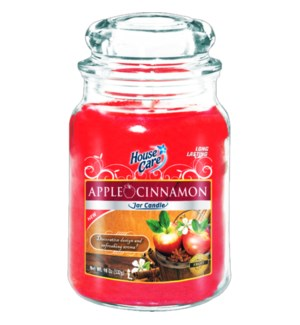 U #IN86033 JAR CANDLE/APPLE CINNAMON
