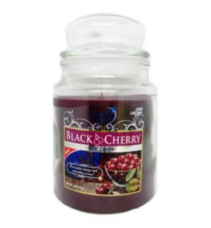 U #IN86035 JAR CANDLE/BLACK CHERRY