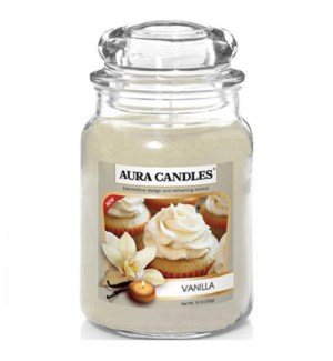 U #IN86036 JAR CANDLE/VANILLA