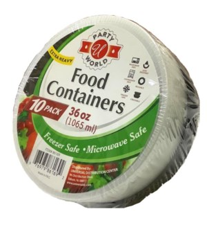 U #86169 FOOD CONTAINERS, ROUND