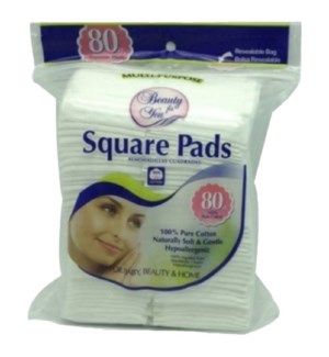 U COSMETIC COTTON PADS #86221 SQUARE